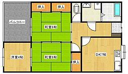 ひばり荘[2階]の間取り