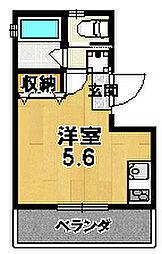 LOFTY伏見稲荷駅前 2階1Kの間取り