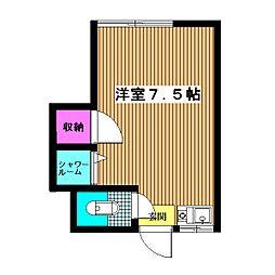 ガーデン塚本[1階]の間取り