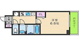 プレサンスTHE TENNOJI 逢坂トゥルー 3階1Kの間取り