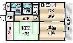 ドムール三国[3階]の間取り