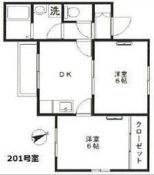 東京都世田谷区桜3丁目の賃貸マンションの間取り