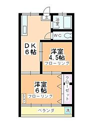 第2石田ビル[303号室]の間取り