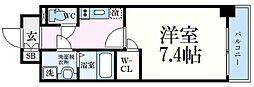 神戸市海岸線 中央市場前駅 徒歩5分の賃貸マンション 4階1Kの間取り