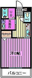 桜区栄和3階建アパート[3階]の間取り
