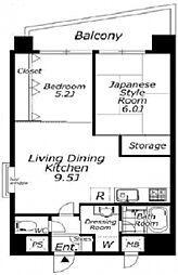 朝日板橋駅前マンション[5階]の間取り
