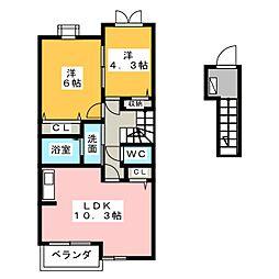 JSリヴァージュI[2階]の間取り