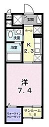 クレメント武蔵浦和[102号室]の間取り