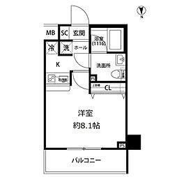 プレール・ドゥーク亀戸水神駅前[7階]の間取り