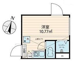 JR中央線 大久保駅 徒歩8分の賃貸マンション 2階ワンルームの間取り