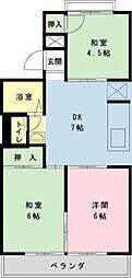 東京メトロ東西線 浦安駅 徒歩23分の賃貸アパート 2階3DKの間取り