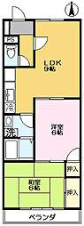 第3弥藤コーポ[201号室]の間取り
