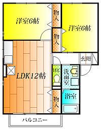 シャルマンコート D棟[1階]の間取り