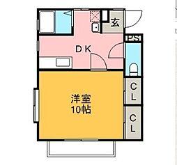 メゾン志摩[1階]の間取り