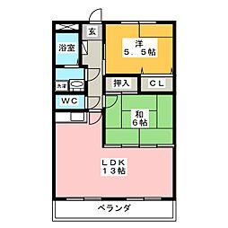 シャルマン冨士塚[1階]の間取り