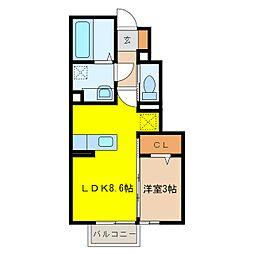 D-ROOM高田字川端沖[1階]の間取り