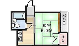 西田辺ハイツ[2階]の間取り