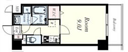 ラ・ビィNAKAZEN 4階1Kの間取り