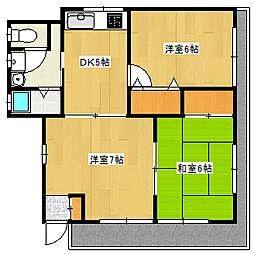 兵庫県神戸市灘区山田町1丁目の賃貸アパートの間取り