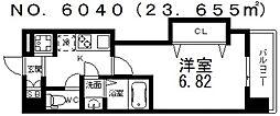 Luxe難波西III(ラグゼ難波西III) 7階1Kの間取り