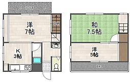 [一戸建] 兵庫県川西市加茂1丁目 の賃貸【/】の間取り