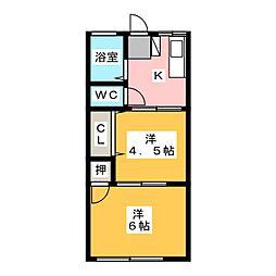 シティハイムシオン[1階]の間取り
