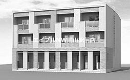 岡山県岡山市南区若葉町丁目なしの賃貸アパートの外観