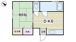 仲川興業ビル[302号室]の間取り