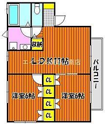 ドゥ・ゼトワールA[1階]の間取り