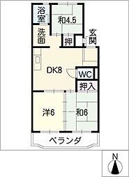 ダイヤマンション[2階]の間取り