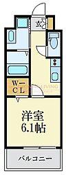 福岡市地下鉄空港線 大濠公園駅 徒歩9分の賃貸マンション 14階1Kの間取り