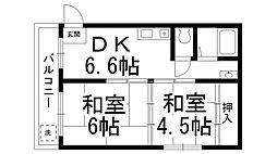 山本マンション[0205号室]の間取り