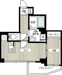 ハイズヨコハマリガーレ[2階]の間取り