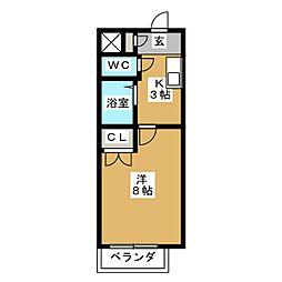 ア・ラ・モード[2階]の間取り