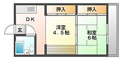 マンション杉[2階]の間取り