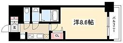 プレサンス大須観音ディオ 7階1Kの間取り