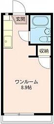 JCハウス 2階ワンルームの間取り