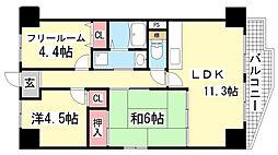 エテルノ神戸[3階]の間取り
