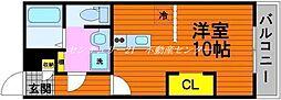 JR山陽本線 高島駅 徒歩21分の賃貸アパート 2階ワンルームの間取り