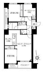 ウィルローズ浅草[3階]の間取り