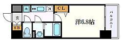 名古屋市営東山線 名古屋駅 徒歩8分の賃貸マンション 15階1Kの間取り