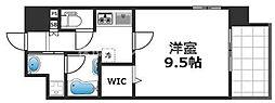 グランパシフィック花園Luxe 4階1Kの間取り
