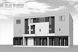 愛知県岡崎市井内町字下堤の賃貸アパートの外観