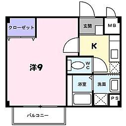 兵庫県篠山市大沢新の賃貸アパートの間取り