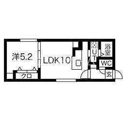 (仮)手稲本町1-1MS 4階1LDKの間取り