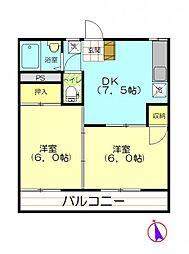 クリア・ステージ[103号室号室]の間取り