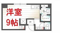 京急本線 日ノ出町駅 徒歩5分の賃貸マンション 2階ワンルームの間取り