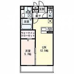 仮称)東淀川区山本ハイツ 1階1LDKの間取り