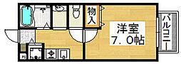 パセオ三国ヶ丘[1階]の間取り