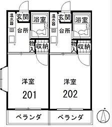 藤栄ハイツ[2階]の間取り